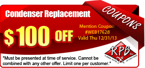 $100 off condenser replacement