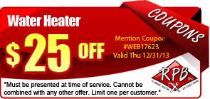 $25 off water heater