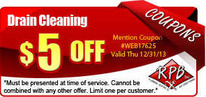 $5 off drain cleaning